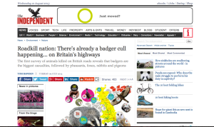 http://www.independent.co.uk/environment/nature/roadkill-nation-theres-already-a-badger-cull-happening-on-britains-highways-8698457.html